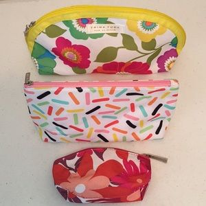 Bundle of 3 Clinique cosmetic bags